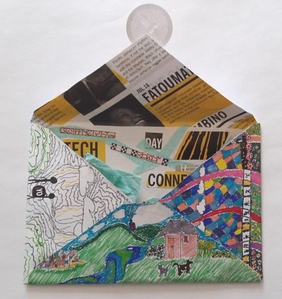 Imagem 1, frente do envelope